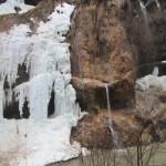 Водопад в Черекском ущелье весной
