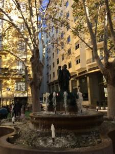 Сквер в Валенсии